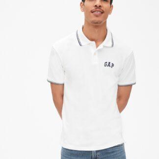 GAP bílé pánské tričko s logem