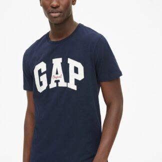 GAP modré pánské tričko s logem