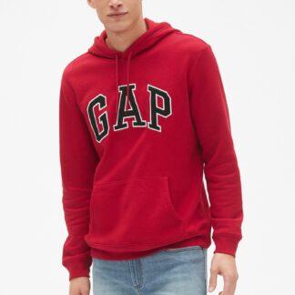 GAP červená pánská mikina s kapucí