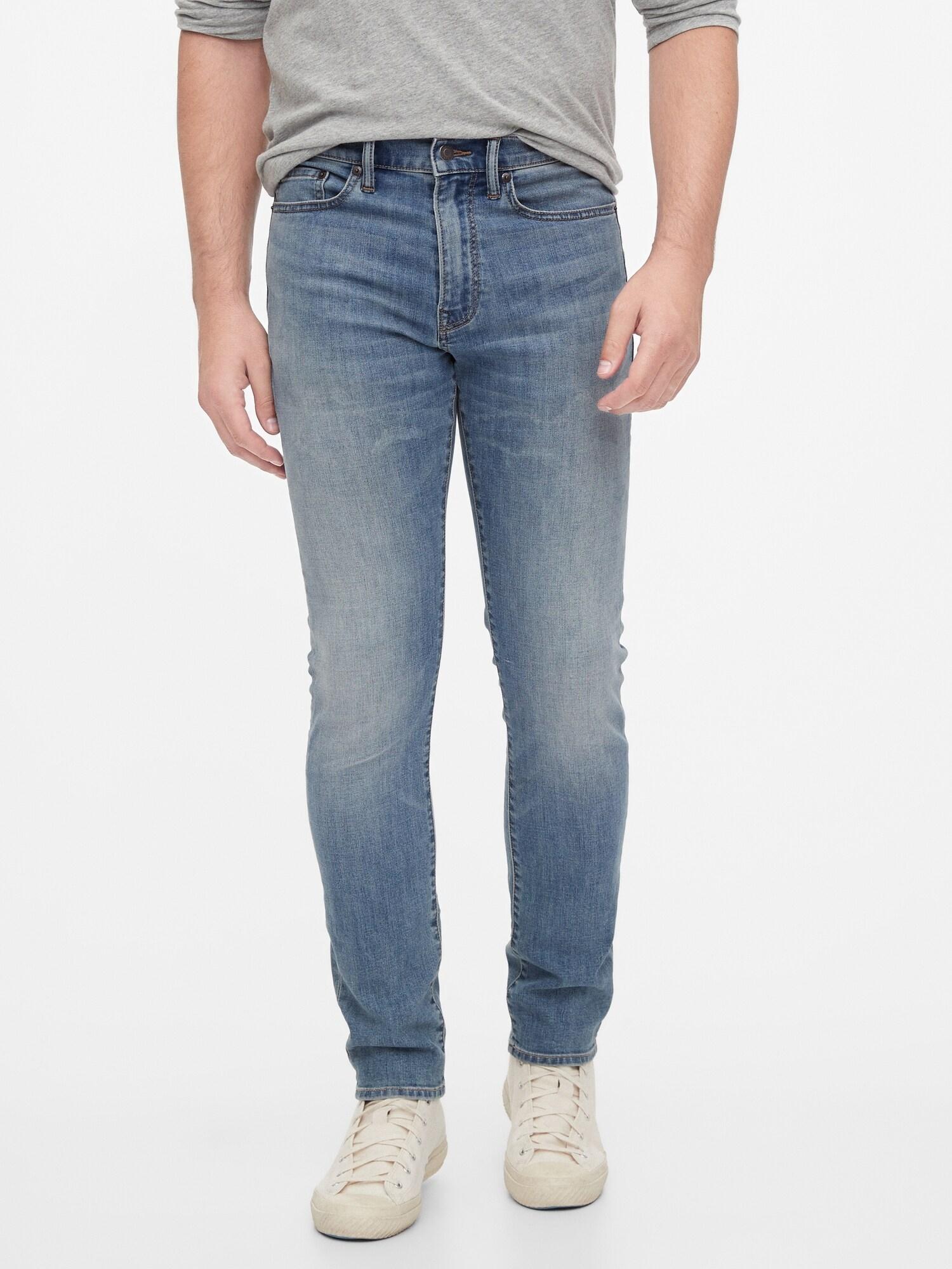 GAP modré pánské džíny slim