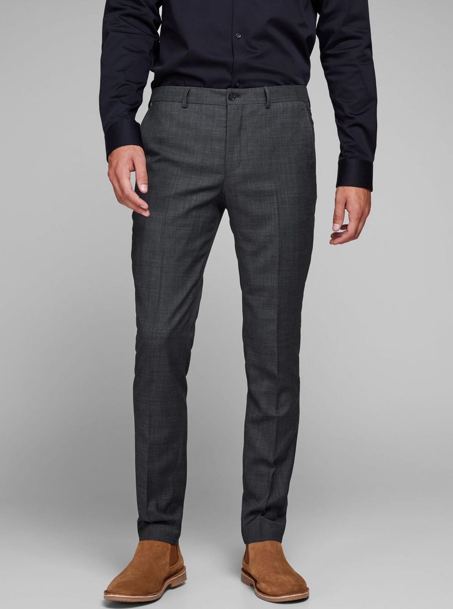 Jack & Jones šedé pánské kalhoty Laris