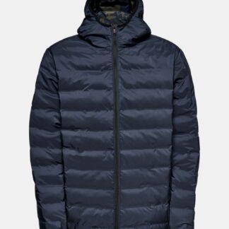 Modrá zimní prošívaná bunda ONLY & SONS