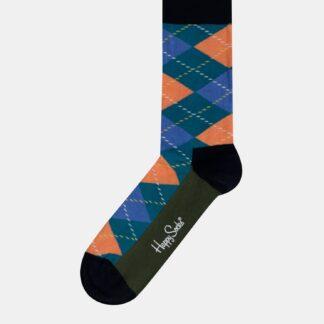Modré pánské kostkované ponožky Happy Socks Argyle