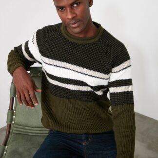 Khaki pánský svetr Trendyol