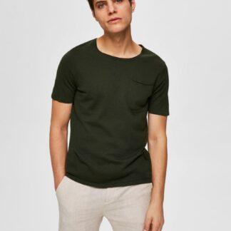 Selected Homme khaki pánské basic tričko
