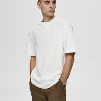 Selected Homme bílé pánské basic tričko Malcolm