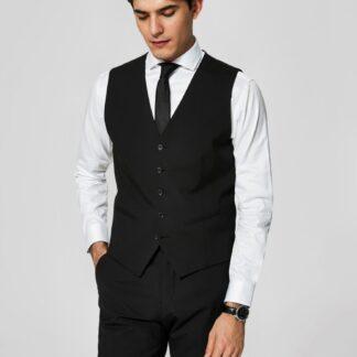 Selected Homme černá pánská vesta