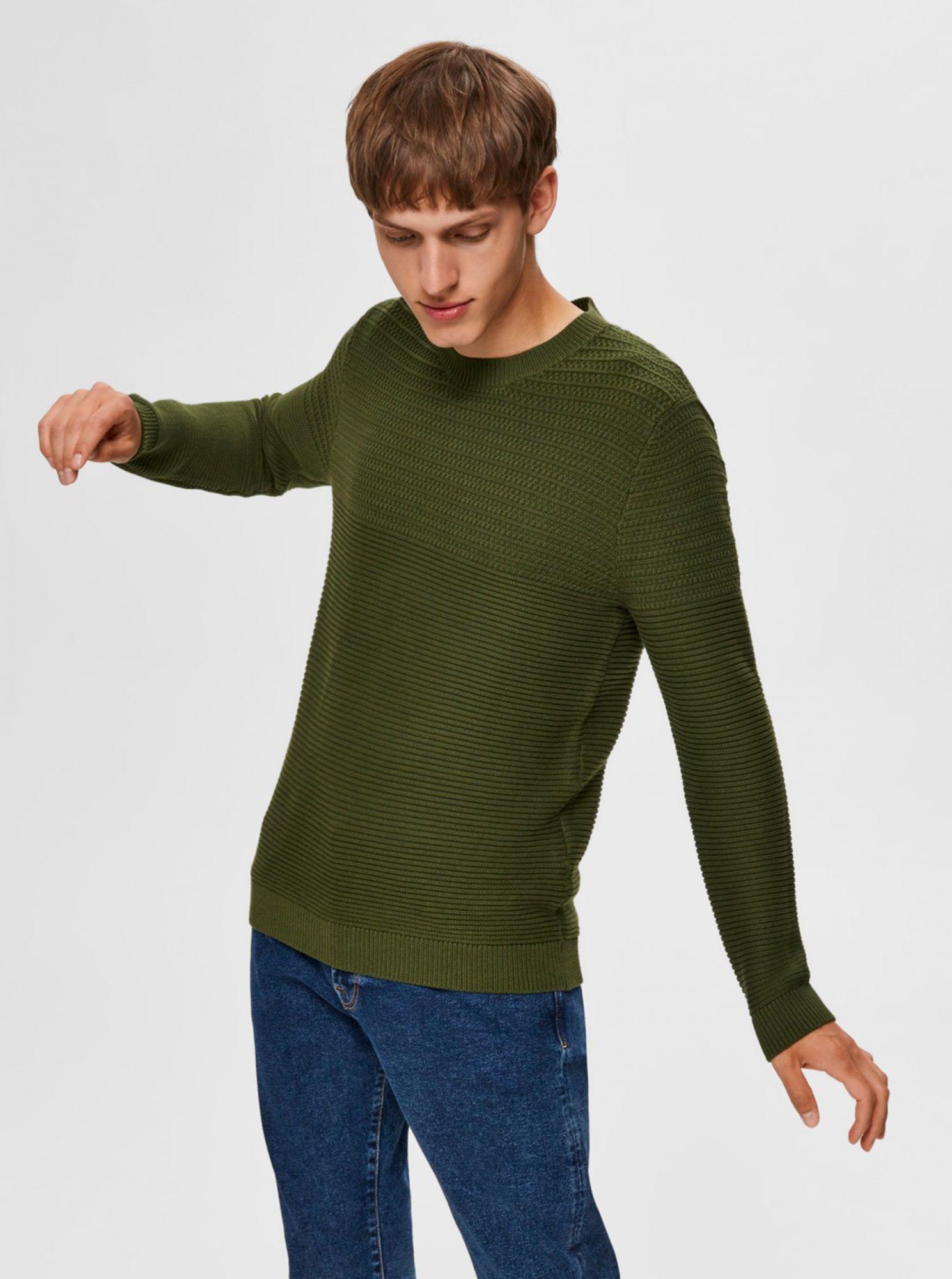 Selected Homme zelené pánský svetr