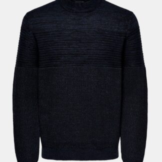 ONLY & SONS černo-modrý pánský svetr