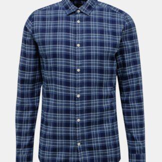 ONLY & SONS modrá kostkovaná pánská košile New Omar