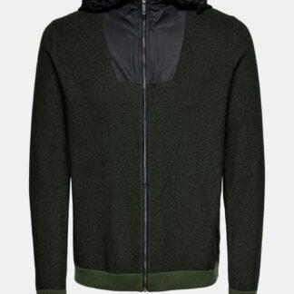 ONLY & SONS zelený pánský svetr