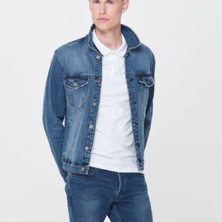 ONLY & SONS modrá džínová bunda Coin