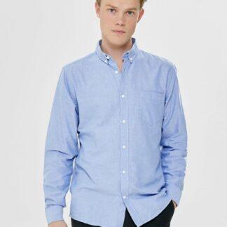 ONLY & SONS modré pánská košile Alvaro