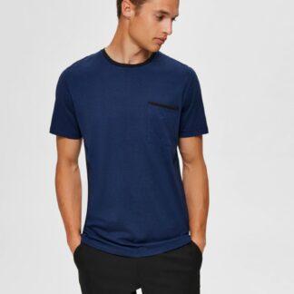 Selected Homme tmavě modré pánské tričko New Poe