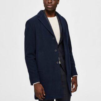 Selected Homme tmavě modrý pánský kabát Hagen