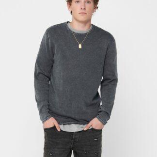 ONLY & SONS šedý pánský svetr Garson