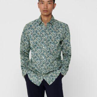 ONLY & SONS zelené pánská košile Sander