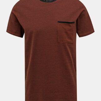 Selected Homme hnědé pánské tričko New Poe