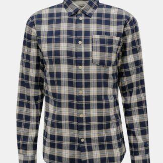 Selected Homme modrá pánská kostkovaná košile Matthew