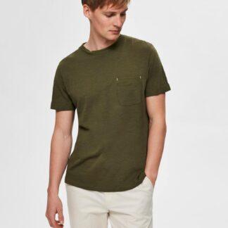 Selected Homme khaki pánské basic tričko Jared