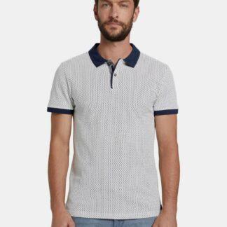 Modro-bílé pánské polo tričko Tom Tailor