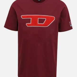 Vínové pánské tričko Diesel