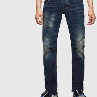 Tmavě modré pánské straight fit džíny Diesel