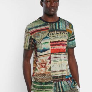 Desigual barevné pánské tričko TS Tlaloc s logem