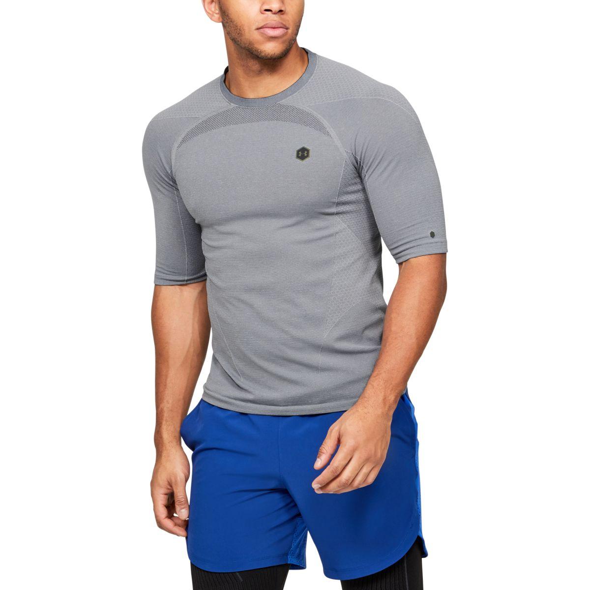 Kompresní tričko Under Armour Rush HG Seamless Comp SS-GRY