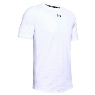 Tričko Under Armour Charged Cotton SS-WHT
