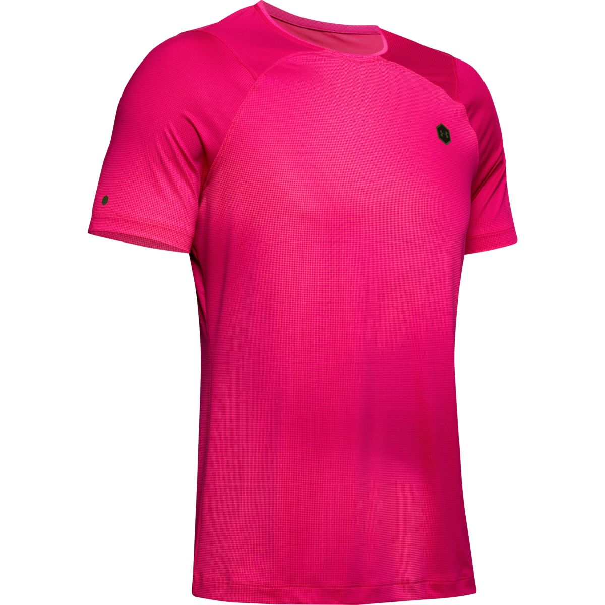 Tričko Under Armour HG Rush Fitted SS Printed-PNK