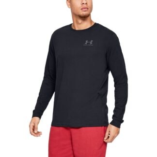 Tričko Under Armour SPORTSTYLE LEFT CHEST LS-BLK