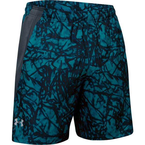 Kraťasy Under Armour Launch Sw 7'' Printed Short-Gry