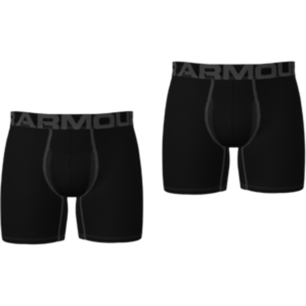 Boxerky Under Armour UA Tech 6in 2 Pack-BLK