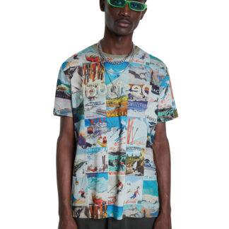 Desigual barevné pánské tričko TS Brad
