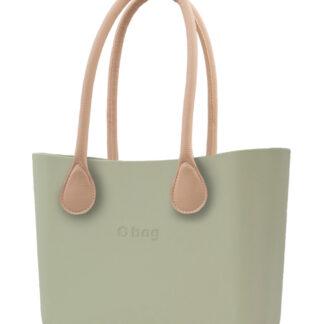 O bag  kabelka Cargo s dlouhými koženkovými držadly natural