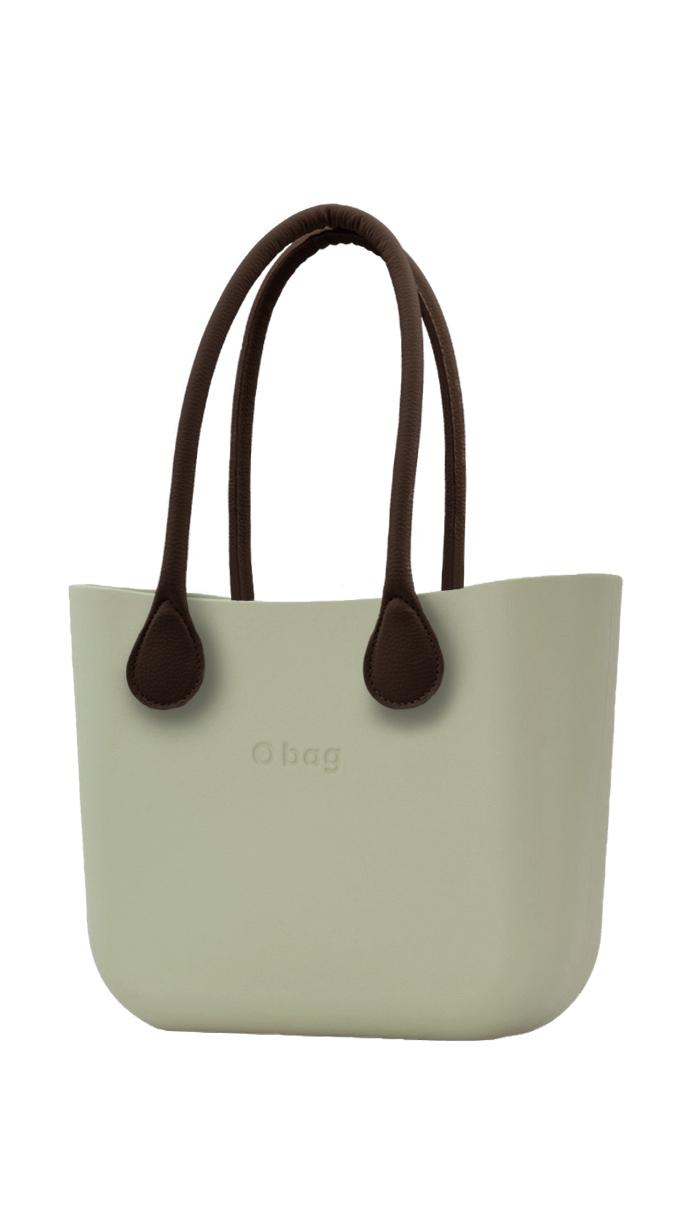 O bag  kabelka Cargo s hnědými dlouhými koženkovými držadly