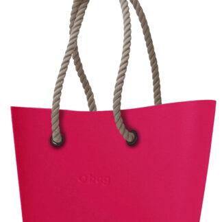 O bag  kabelka Urban Amaranto s dlouhými provazy natural