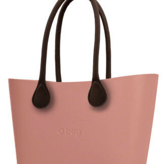 O bag  Urban kabelka Phard s hnědými dlouhými koženkovými držadly