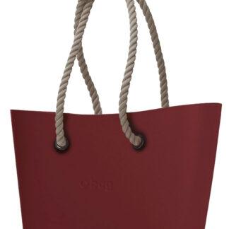 O bag  Urban kabelka Ruby Red s dlouhými provazy natural