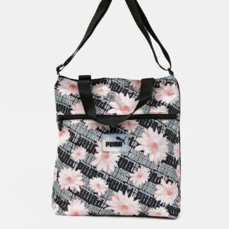 Puma černo-šedá taška s květinovým vzorem