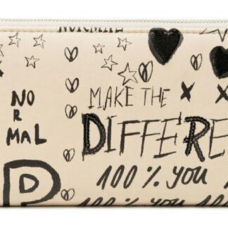 Desigual béžová peněženka Mone Hansmade Fiona