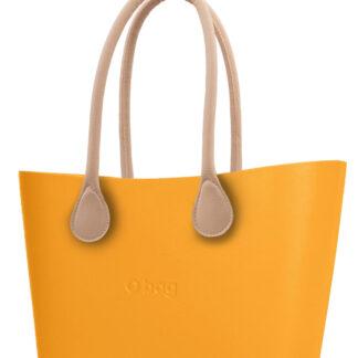 O bag kabelka Urban Becco Doca s dlouhými koženkovými držadly natural
