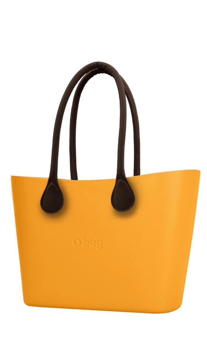 O bag kabelka Urban Becco Doca s hnědými dlouhými koženkovými držadly
