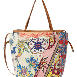Desigual barevná kabelka Bols Pink Boho Norwitch