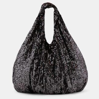 Pieces černá flitrovaná taška