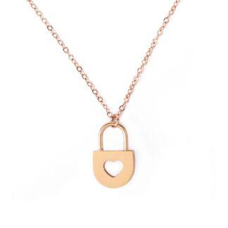 Vuch náhrdelník Heart Key Gold