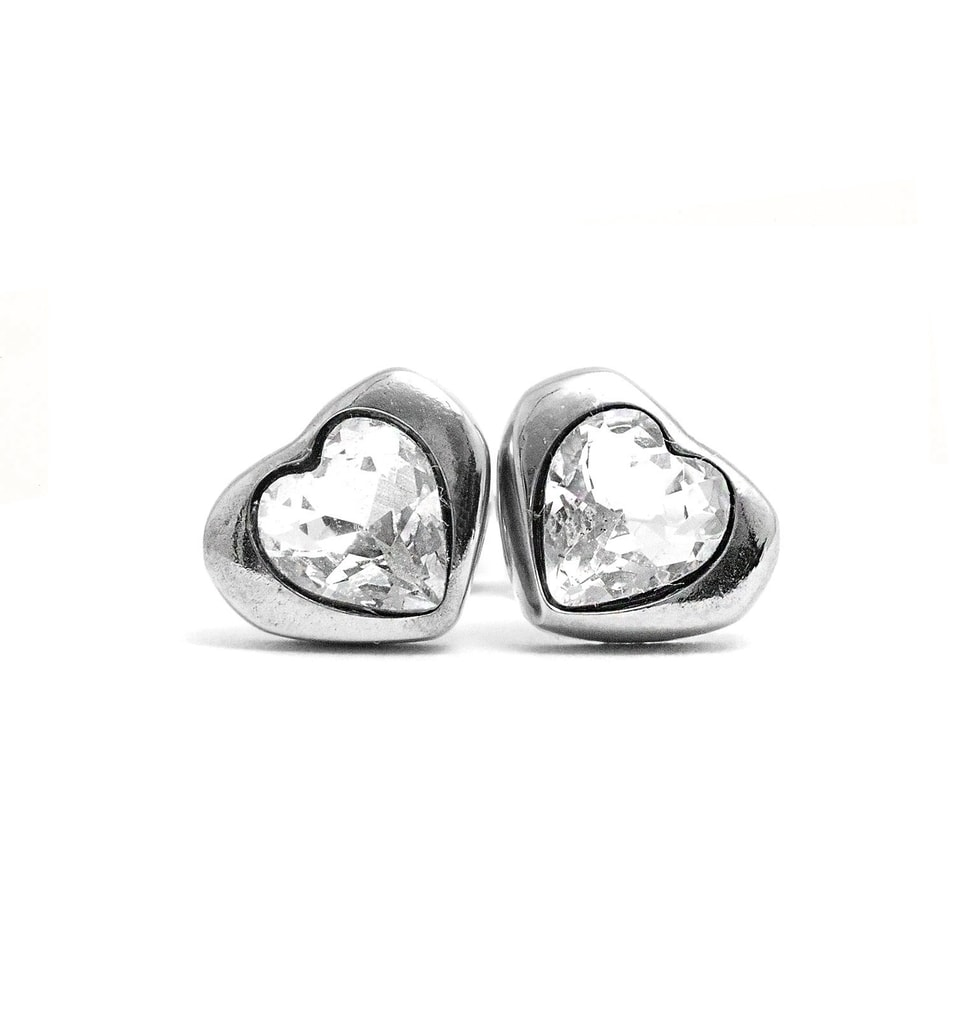 Vuch náušnice MyHeart Silver s kamínkem