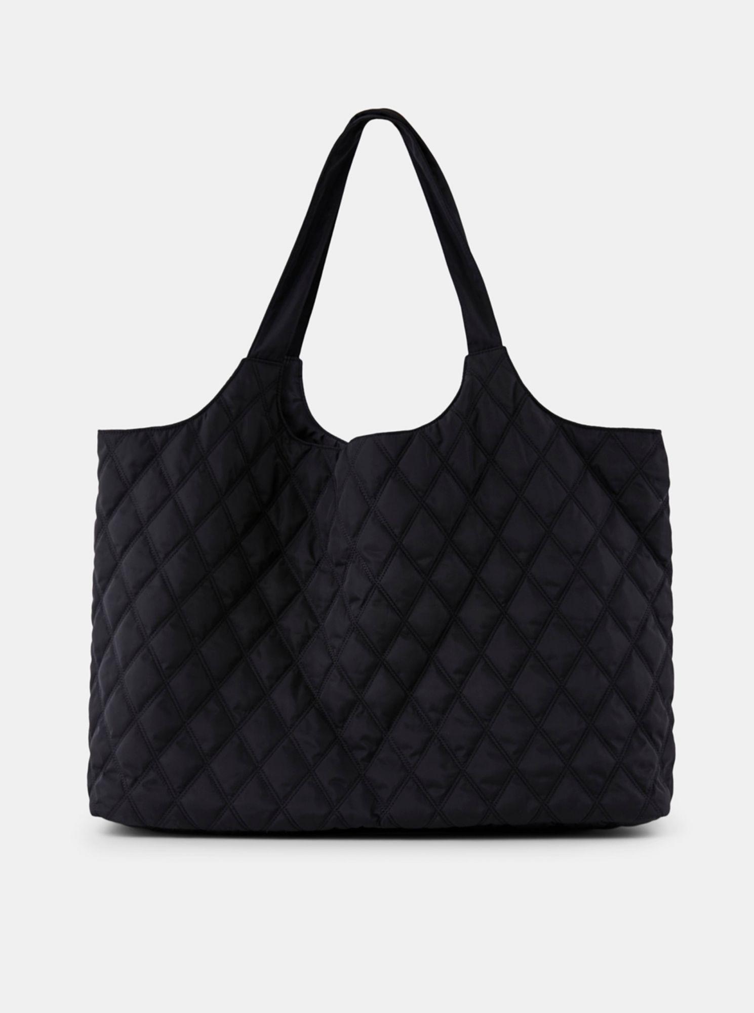 Pieces černá prošívaná taška