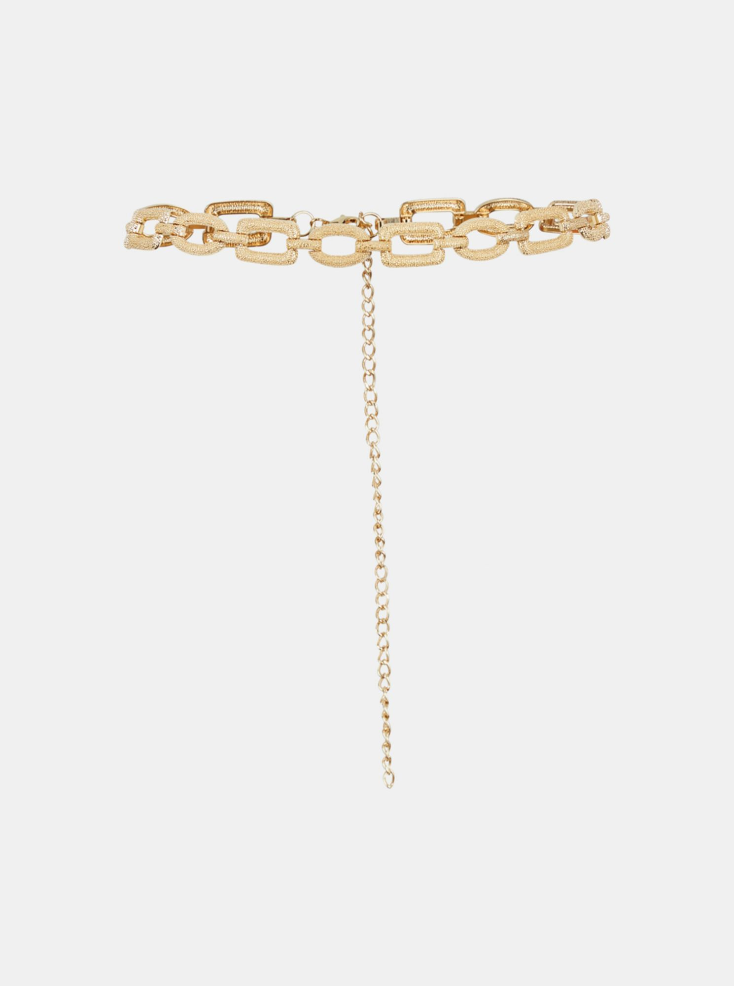 Pieces kovový pásek ve zlaté barvě